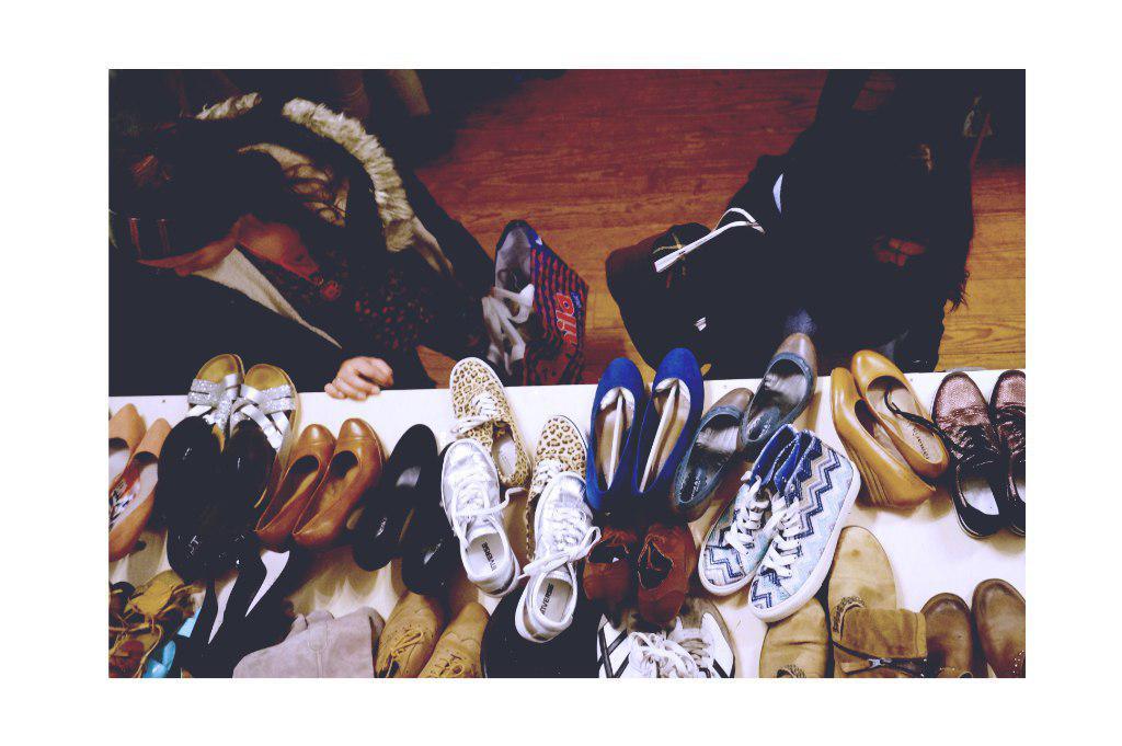 Schuhe von oben